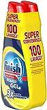 Finish Powergel, Gel Detersivo per Lavastoviglie Liquido, Multiazione, Limone Sgrassante, 100 Lavaggi, 2 Confezioni da 50 Lavaggi