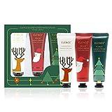 Set di crema per le mani di Natale,Crema Mani Riparatrice per Pelli rovinate e secche 3 * 30ml (Natale)