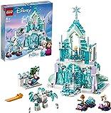 LEGO Disney Princess Il Magico Castello di Ghiaccio di Elsa, Set con le Mini-doll della Principessa Elsa e di Anna e lo Scenario di Frozen, 43172