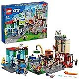 LEGO City Centro Città Costruzioni Giocattolo con Camion, Moto, Bici, Piattaforme stradali e 8 Minifigure, per Bambini di 6 Anni, 60292