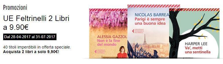 Offerta Feltrinelli: 2 libri a 9,90 euro
