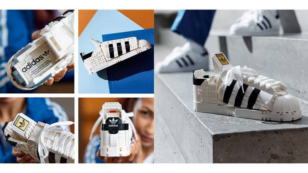 iconiche scarpe Adidas set lego
