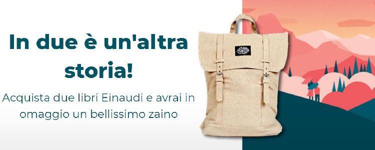 Zaino Einaudi in regalo